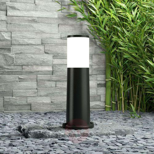 Fumagalli Amelia – lampa cokołowa, czarna, wysokość 40 cm