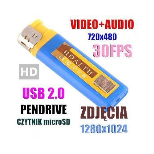 Szpiegowska zapalniczka, nagrywająca cyfrowo obraz i dźwięk + aparat foto + detekcja dźwięku (vox).. marki Spy elektronics ltd.