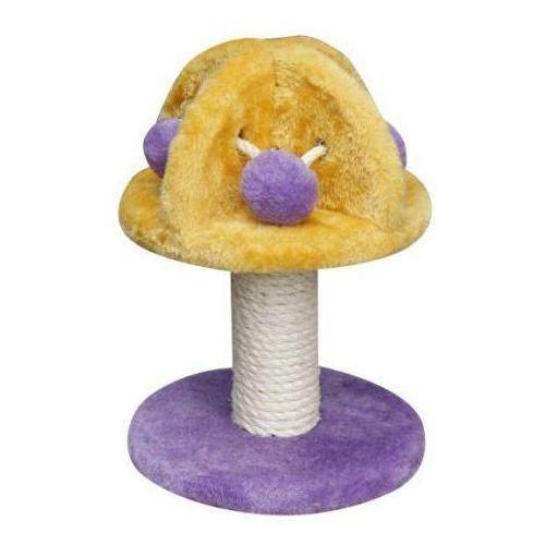 drapak dla kota mini-grzybek fioletowo-żółty marki Yarro