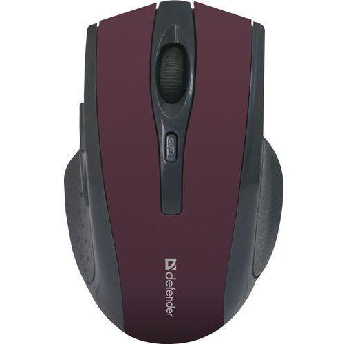 Mysz bezprzewodowa Defender ACCURA MM-665 optyczna 1600dpi 6P burgundowa, 52668