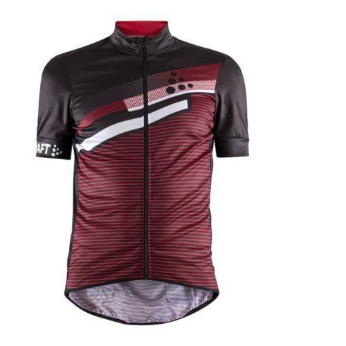 Koszulka z krótkim rękawem reel graphic czarny-czerwony / rozmiar: xxl marki Craft