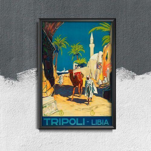 Plakat vintage do salonu Plakat vintage do salonu Libia Tripolis