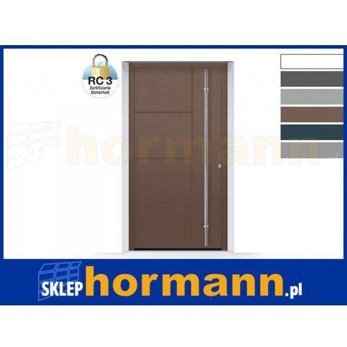 Drzwi aluminiowe ThermoSafe 2018, Wzór 871, kolor do wyboru, przeciwwłamaniowe RC 3