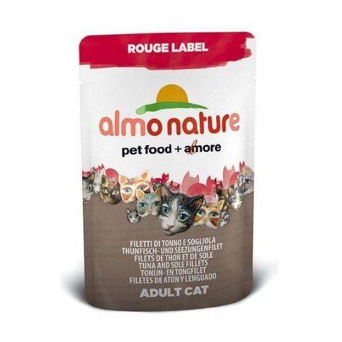Almo Nature Rouge Label Kot - Sola i tuńczyk saszetka 55g - produkt z kategorii- Karmy i przysmaki dla kotów