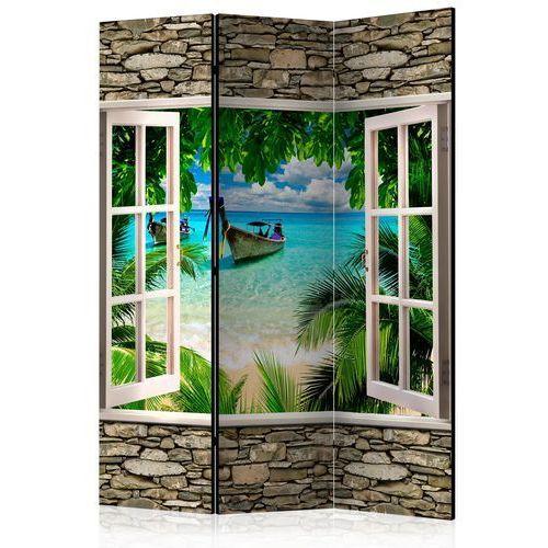 Parawan 3-częściowy - Tropikalna plaża [Room Dividers]