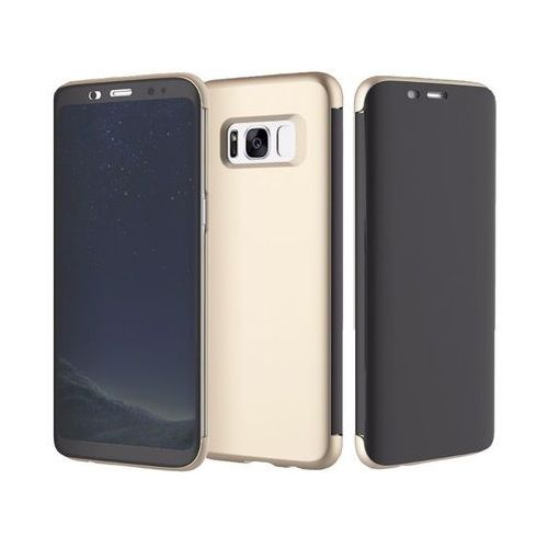 Etui rock dr. v z interaktywną klapką Galaxy S8+ Plus złote - Złoty