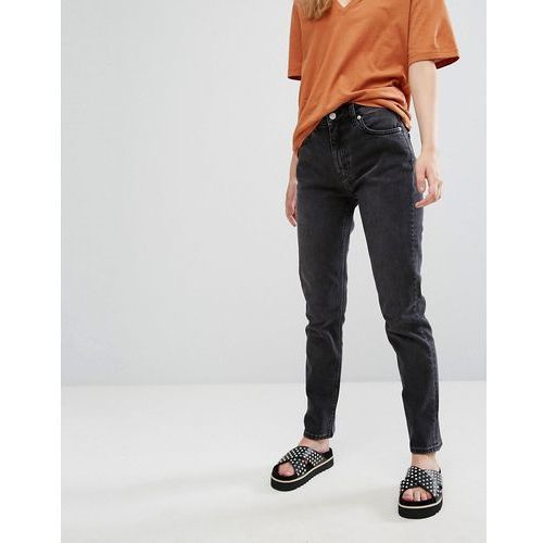 Weekday Seattle High Waist Mom Jeans - Black, jeans