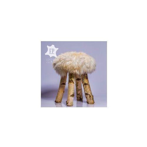 F.p. leather premium: home interior design Krzesło dekoracyjne z futrem [id7]