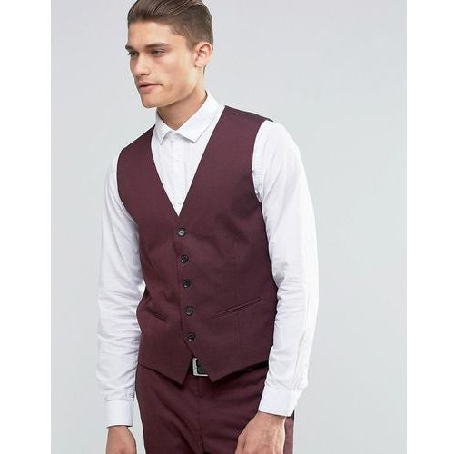 waistcoat with stretch in slim fit - red, Selected homme