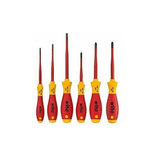 WIHA Zestaw wkrętaków SoftFinish electric slimFix płaskich/Phillips/Pozidriv Xeno, 6 sztuk 38362, WH38362