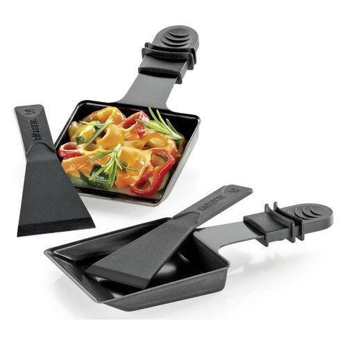 - 2 patelenki z łopatkami do raclette / grilla stołowego marki Kuchenprofi