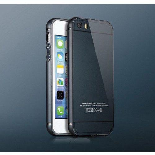 Mat bumper Obudowa bumper metal case apple iphone 5 / 5s / 5se - czarna - czarny
