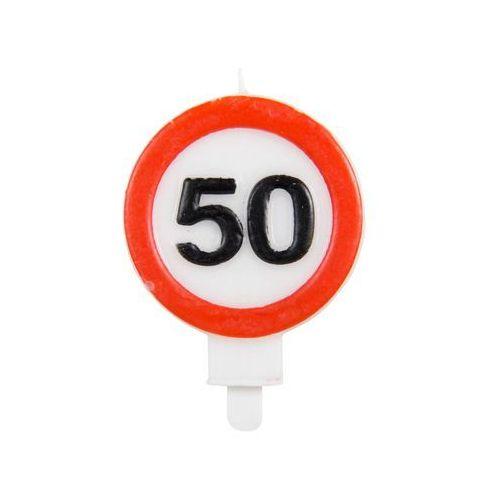 Świeczka na 50-tke znak zakazu - 1 szt.
