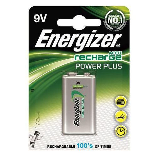 Akumulator ENERGIZER Power Plus, E, HR22,9V, 175mAh (7638900138771)