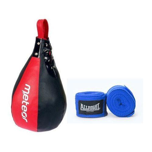 Gruszka bokserska wypełniona + bandaż (2 szt.) z kategorii Gruszki i worki treningowe