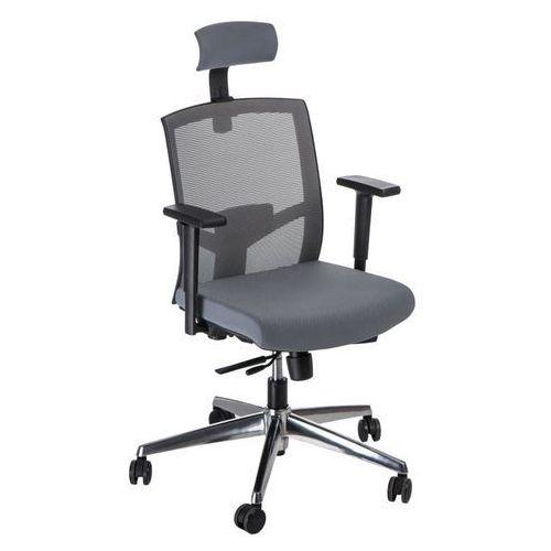 Fotel biurowy ergo szary/szary z zagłówk iem marki Maduu studio