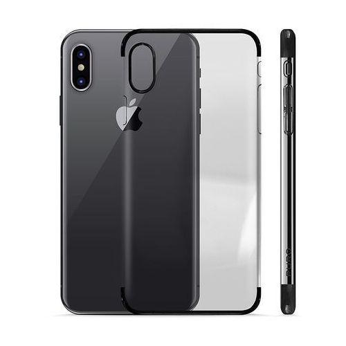 PURO Verge Crystal Cover - Etui iPhone X (czarny) (8033830194122)