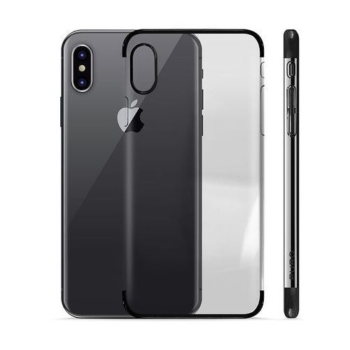 Puro verge crystal cover - etui iphone x (czarny)