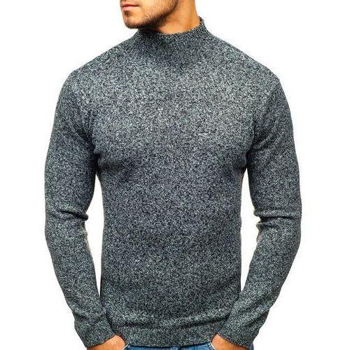 Sweter męski golf szary Denley H1801, kolor szary