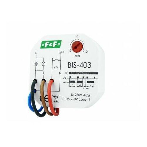 F&f Przekaźnik bistabilny z wyłącznikiem czasowym do puszki bis-403