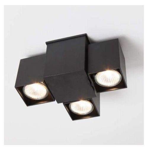 LAMPA sufitowa BIZEN 2246/GU10/CZ Shilo metalowa OPRAWA reflektorowa minimalistyczna IP22 czarna, kolor Czarny