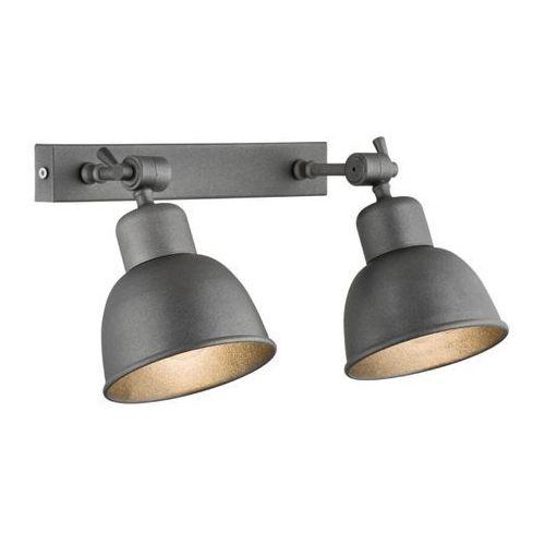 Loftowa industrialna metalowa lampa oprawa ścienna kinkiet Argon Eufrat 2x60W E27 antrtacyt 677, 677