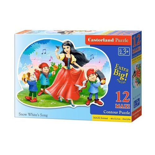 Puzzle 12 maxi konturowe.:Snow White's Song/ B-120192 - Castor, 1_626599
