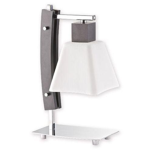Dreno lampka stołowa 1 pł. / chrom + drewno (wenge), Dodaj produkt do koszyka i uzyskaj rabat -10% taniej! (5907626643961)