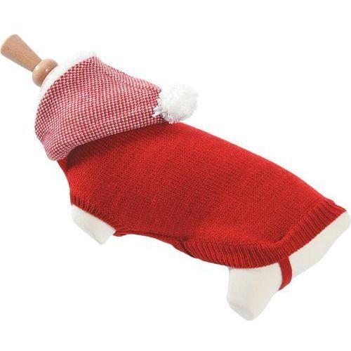sweterek z kapturem t25 czerwony - darmowa dostawa od 95 zł! marki Zolux