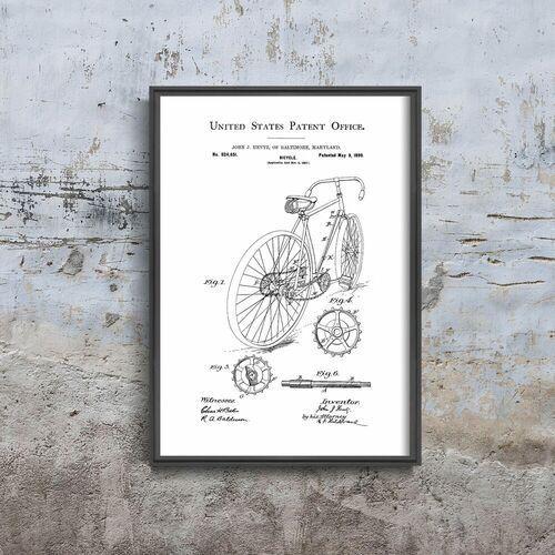 Plakat retro plakat retro rower hentz usa marki Vintageposteria.pl