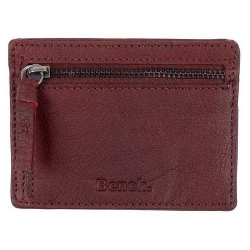 Portfel - leather card & coin holder buffalo brown tan (br11357) marki Bench
