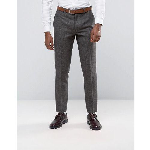 Original Penguin Formal Brown Herringbone Suit Trousers - Brown