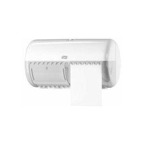 Tork Dozownik do papieru toaletowego w rolkach podwójny biały