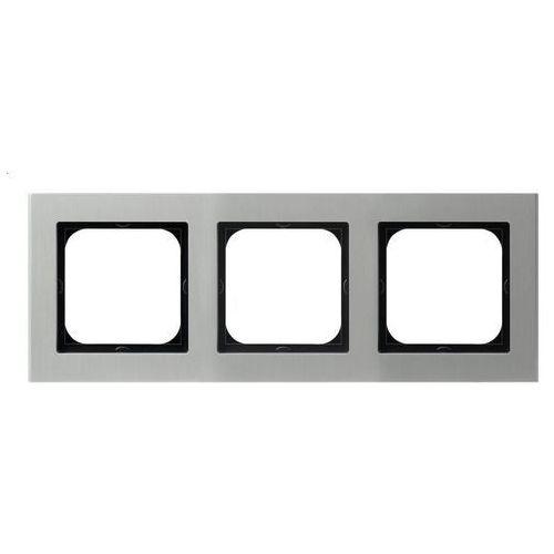 Ramka 3-krotna aluminium gr 6mm R-3RA/35 SONATA (5907577447045)