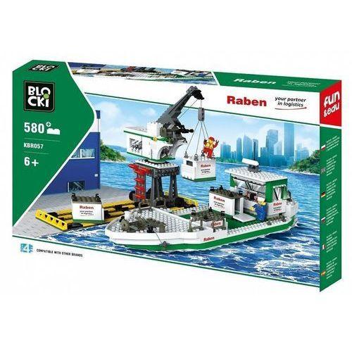 Klocki Blocki Raben Statek kontenerowy z żurawiem 576 elementów