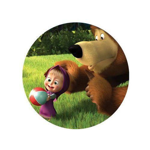 Dekoracyjny opłatek tortowy masza i niedźwiedź - 20 cm - 1 marki Modew