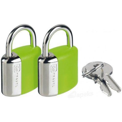 Go Travel DG/708 kłódka stalowa x2 - zielony (5016326007086)