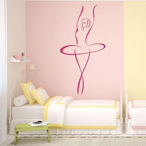 Naklejka welurowa dla dzieci baletnica 2026 marki Wally - piękno dekoracji