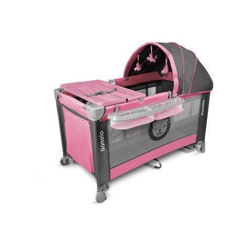 Łóżeczko turystyczne LIONELO SVEN Różowy z kategorii łóżeczka turystyczne