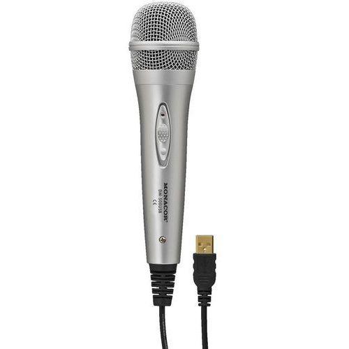 Monacor Mikrofon usb  dm-500usb, rodzaj transmisji danych: przewodowa przełącznik
