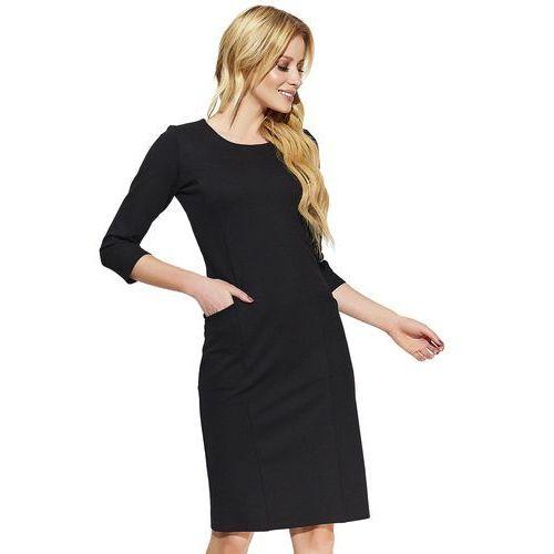 Makadamia sukienka damska 36 czarna, kolor czarny