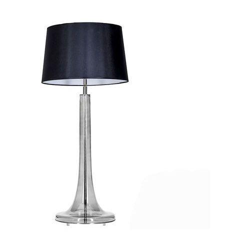 Lampa oprawa stołowa 4Concepts Lozanna Transparent Black 1x60W E27 czarny/biały L214282229