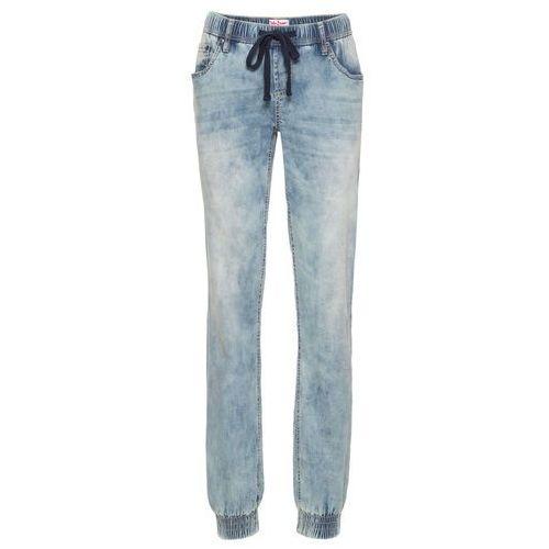 Dżinsy ze stretchem bez zamka w talii comfort jasnoniebieski marki Bonprix
