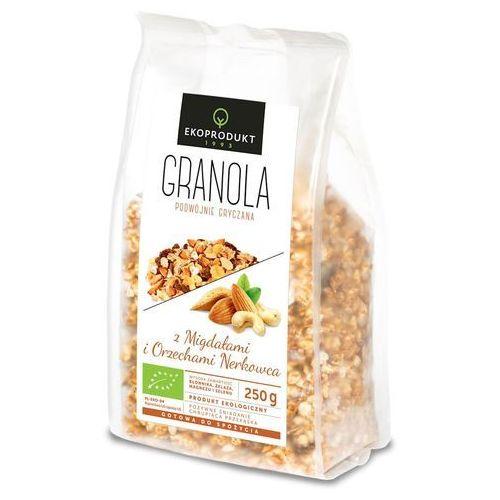 Ekoprodukt (ciastka, chlebki, musli) Granola z migdałami i orzechami nerkowca bio 250 g - ekoprodukt (5903548003593)