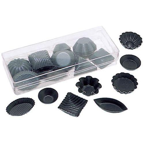 Zestaw 50 sztuk foremek metalowych z powłoką non-stick, różne kształty | CONTACTO, 6379/050