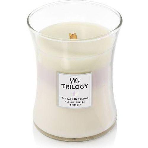 Woodwick Świeca trilogy terrace blossoms średnia (5038581065663)