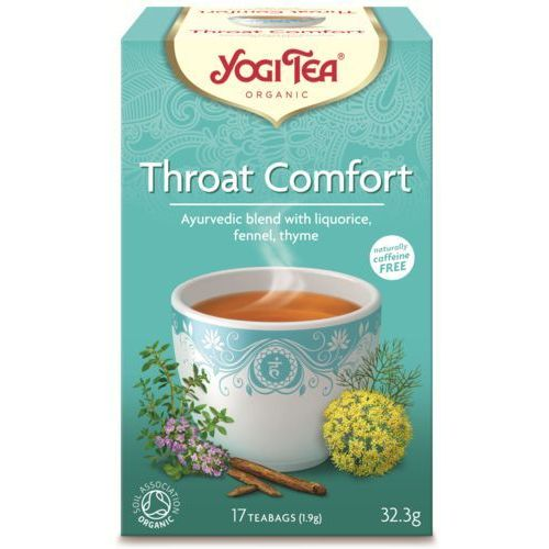Herbata na gardło bio (yogi tea) 17 saszetek po 1,8g marki Yogi tea, usa