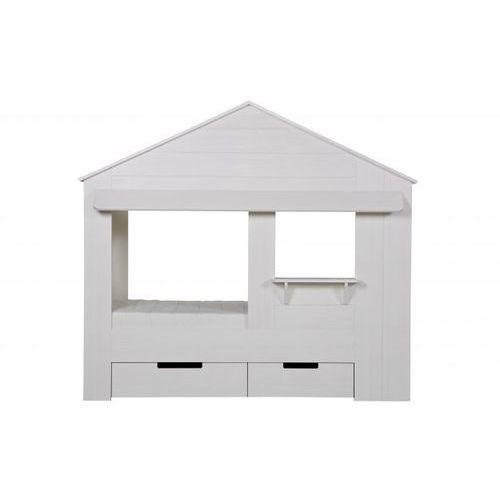 łóżko w kształcie domku huisie bez szuflad 550228-w marki Woood