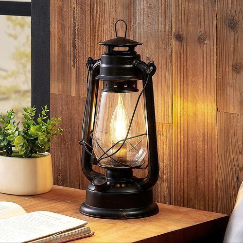 raisa lampa stołowa, latarnia, kolory rdzy marki Lindby