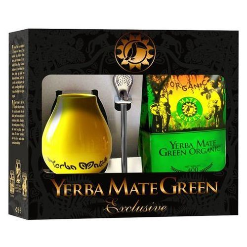 Organic mate green (yerba mate) Zestaw yerba mate bio 400 g, matero, bombilla - organic mate green